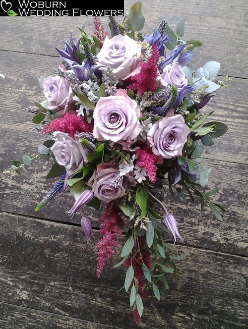Rose, Clematis and Astilbe shower bouquet.