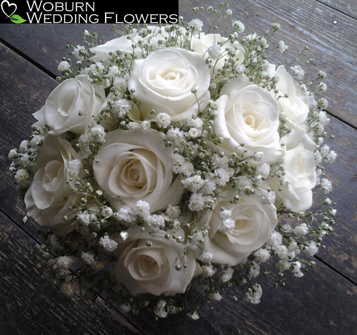 Rose and Gypsophillia bouquet.