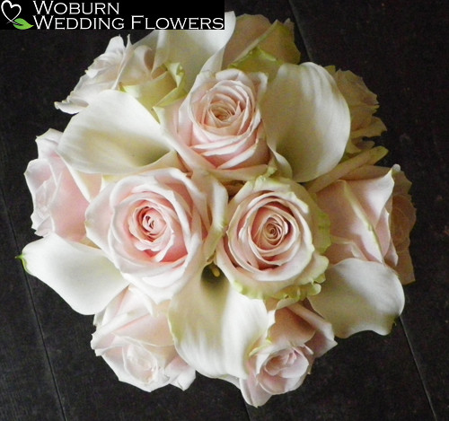 Rose and Calla Lilly hand tied bouquet.