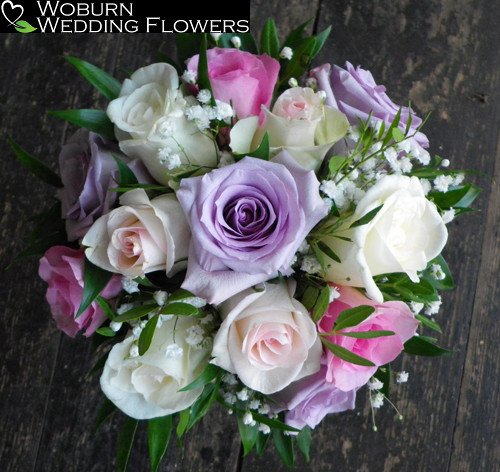 Mixed Rose and Gypsophillia bouquet.
