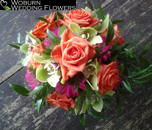 Rose, Orchid and Gerbera bouquet.